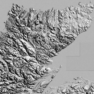OS Landform Panorama Contours NTF or DXF tile lookup - sample image