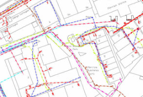 Digitised Underground Utilities map