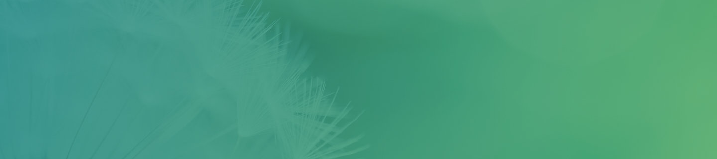 Green banner with dandelion