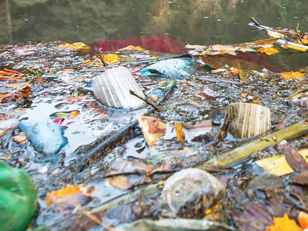 Groundsure Siteguard - Rubbish in a river