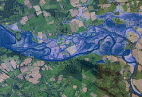 Image showing where might flood on the landscape